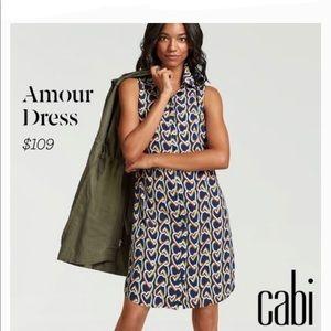 Cabi Amour Sleeveless Hearts Dress Sz M NWT